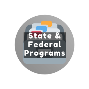 State & Federal Programs Button