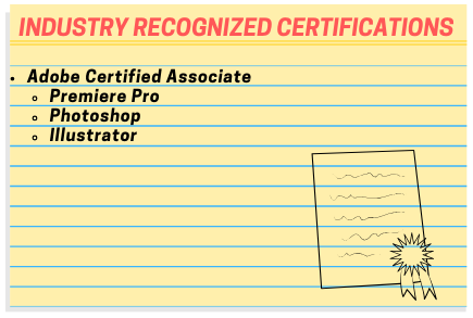 Video Production Industry Recognized Certifications