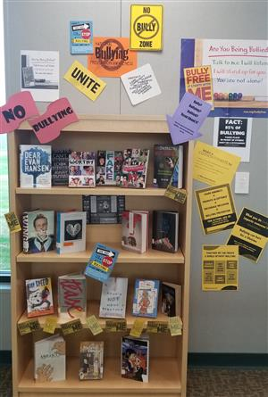 bully prevention awareness book display