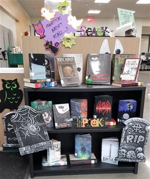 display of books about monsters