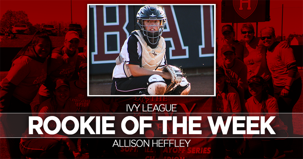 Heffley names Ivy League Rookie of the Week