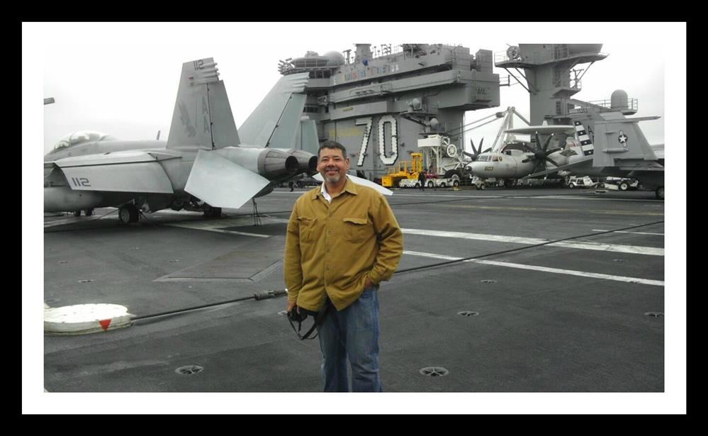 Ruben on the USS Carl Vinson