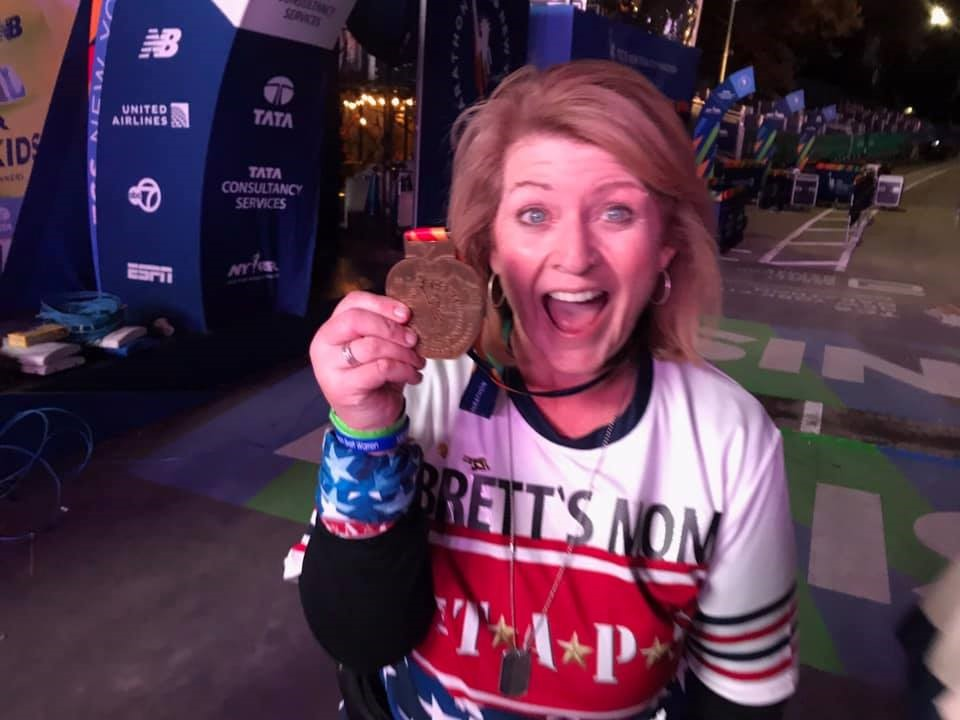 Shellie Warren Completes the New York Marathon!  Congrats Shellie!